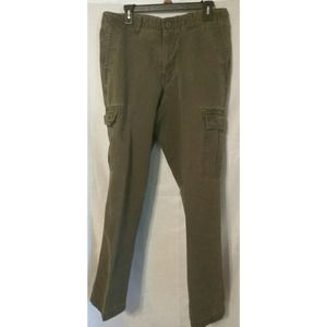 Men's Eddie Bauer Cargo Pants Size 34 W 34 L Green